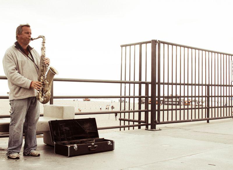 Sax on pier-2